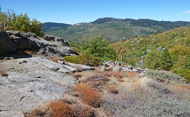 Nice view directly across the valley from the quartz.